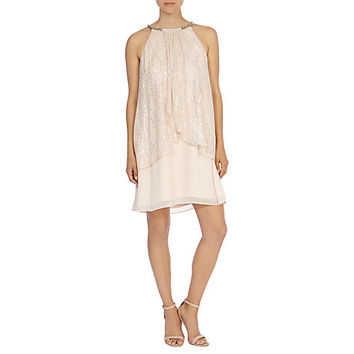 Buy Coast Kendra Neck Trim Dress, Blush | John Lewis