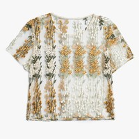 Farrow / Sheer Floral Top