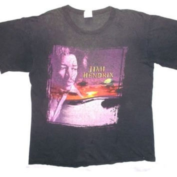 vintage 90s jimi hendrix first rays of the new rising sun rock promo tee t-shirt