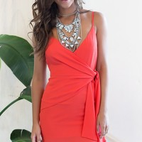Swept Away Dress Coral