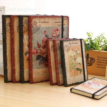 1pc European Retro Cloth Cover Diary Book Vintage Notebook Daily Note Pad Stationery Supplies