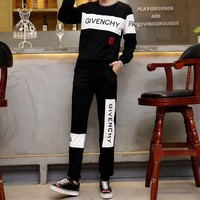 """Givenchy"" Women Casual Fashion Logo Letter Print Long Sleeve Multicolor Trousers Set Two-Piece Sportswear"