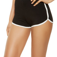 Contrast Trim Dolphin Shorts