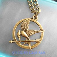 The Hunger Games Mockingjay Logo necklace