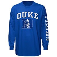 Duke Blue Devils Big Arch & Logo Long Sleeve T-Shirt - Duke Blue