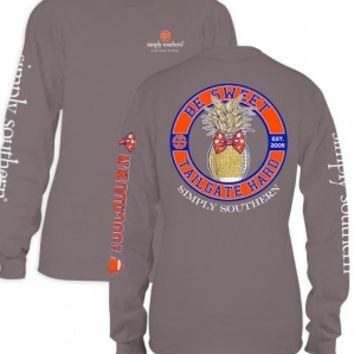 Simply Southern Tailgate Hard Long Sleeve- Orange/Blue
