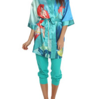 Disney The Little Mermaid Satin Robe