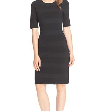 Women's kate spade new york textured stripe scuba knit sheath dress,
