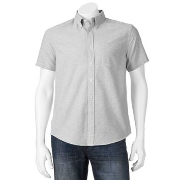 SONOMA life + style Solid Oxford Casual Button-Down Shirt - Big & Tall, Size: