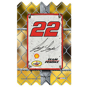 NASCAR Joey Logano Wood Fence Sign, 11 x 17""