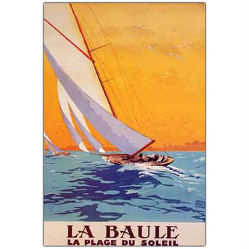 Charles Allo 'La Baule' Canvas Art