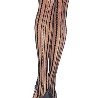 Burlesque Stripe Pantyhose