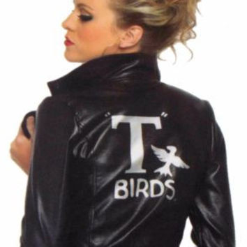 Leg Avenue Grease Bad Sandy Small T Birds Jacket Sexy Halloween Costume Cosplay