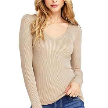 Joanne Ribbed Knit Top