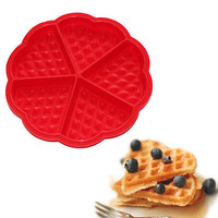 1X Silicone Waffles Muffins Mold Cake Chocolate Pan Bakeware Kitchen Baking Tool