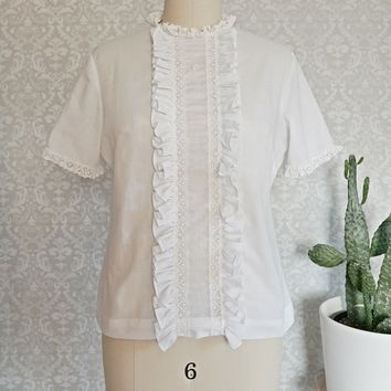 Vintage 1960s Button Back + Darling Blouse