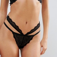 ASOS Malin Lace Underwire Set in Black at asos.com