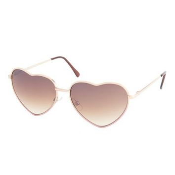 Dip-Dye Heart-Shaped Sunglasses