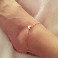 Heart Bracelet or  Anklet