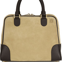 Loewe - Amazona 75 large suede and leather tote