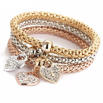3PCS Set Crystal Bracelet