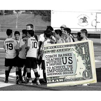 Soccer Coach Personalized Money Clip   Coach Gift