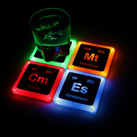 Radioactive Element Glowing Coasters - Geekpoints Exclusive