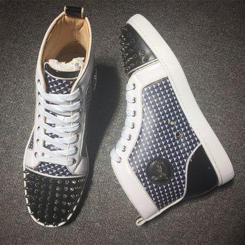 Cl Christian Louboutin Lou Spikes Style #2179 Sneakers Fashion Shoes - Best Deal Online