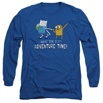 Adventure Time - Fist Bump Long Sleeve Adult 18/1 Officially Licensed Shirt