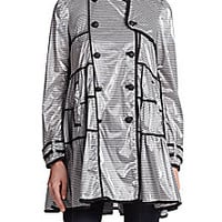 RED Valentino - Coated Striped Raincoat - Saks Fifth Avenue Mobile