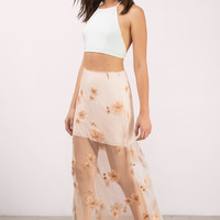 Delilah Embroidered Maxi Skirt