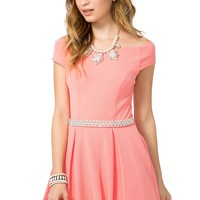 Audrey Pearl Flare Dress