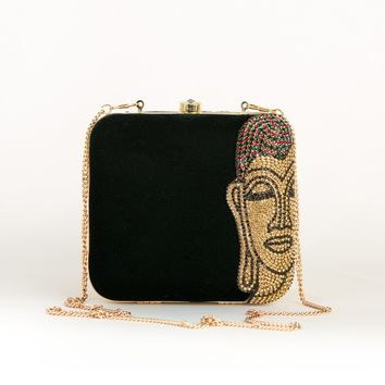 Dark Green Budda Party Clutch