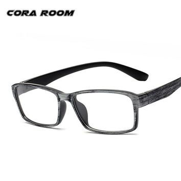TR90 Men Glasses Frame Vintage Optical Imitation Wood Brand Prescription Glasses Myopia Designer Clear Eyeglasses degree Frame