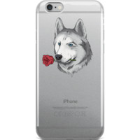Husky iPhone 6 6s Plus Case | Funny Siberian Dog Cover | The Jazzy Panda