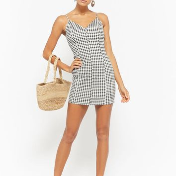 Gingham Cami Mini Dress