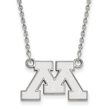 NCAA Sterling Silver U of Minnesota Small Pendant Necklace