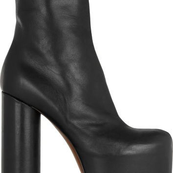 Vetements - Leather platform boots