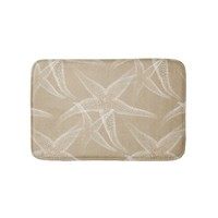 Starfish Sand Beach Bath Mat