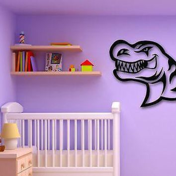 Wall Stickers Vinyl Decal Angry Dinosaur for Baby Room Children Unique Gift (ig790)