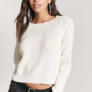 Ribbed Pointelle Sweater