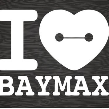 i heart baymax vinyl decal sticker, big hero 6, free shipping!
