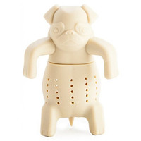 WOMUL Mug Silicone Tea Infuser Mug Herbal Filter Diffusers Charming Pug Shaped