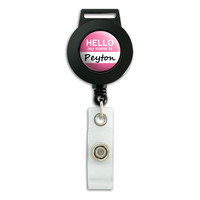 Peyton Hello My Name Is Retractable Badge Card ID Holder