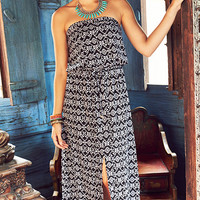 Endless Summer Printed Strapless Maxi Dress