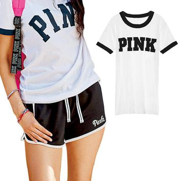 VS Love Pink Women T Shirt Blackpink Kyliejenner Vegan Tumblr Alien Kpop Bts Harajuku Japanese Tee Tops Clothing Plus Size Mujer