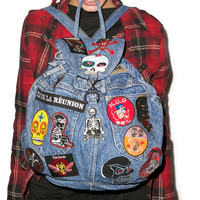 Kittiya Naranong Brain Dead Patched Backpack Denim One