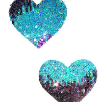 Pastel Sequin Heart Pasties