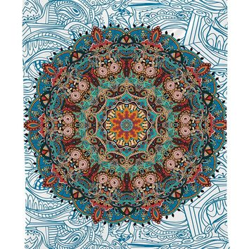 WARM TOUR Bohemian Mandala Tapestry Beach Throw Rugs Indian Decor Mandala Tapestry Wall Hanging Hippie for Living Room