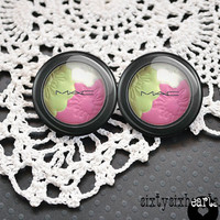 MAC Cosmetics Makeup Stud Earrings - Makeup Artist Salon Beauty Eyeshadow MUA